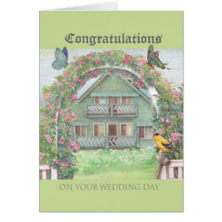 Illustrated Congratulations Cottage Garden & Home Card