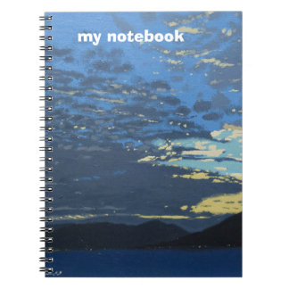 Illustrated fine art themed colour cover Notebook