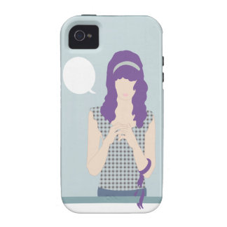 Illustrated Girl Case For The iPhone 4
