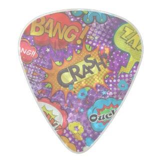 Illustrated Graphic Design Pearl Celluloid Guitar Pick
