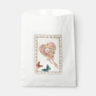 """""""Illustrated Heart Botanical with Butterfly"""" Favour Bags"""
