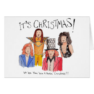 Illustrated 'It's Christmas' Slade Christmas card