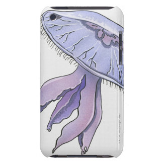 Illustrated Jellyfish Barely There iPod Cover