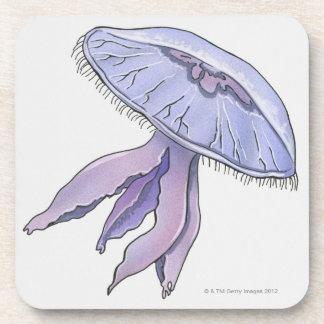 Illustrated Jellyfish Coaster