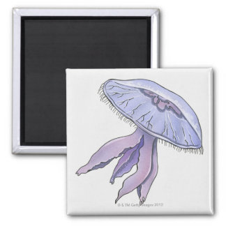 Illustrated Jellyfish Magnet