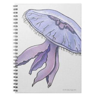 Illustrated Jellyfish Notebook