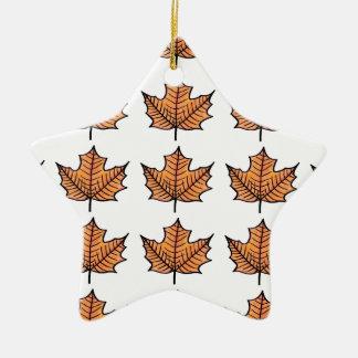 Illustrated Leaf Christmas Ornament