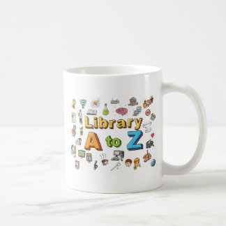 Illustrated Library A-Z Logo Basic White Mug