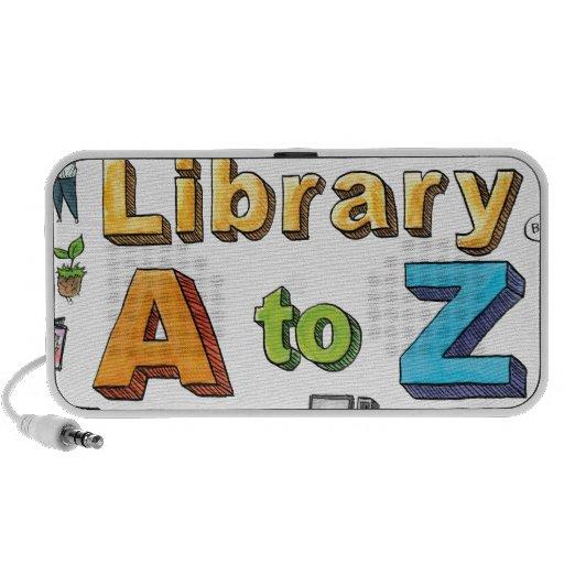 Illustrated Library A-Z Logo Speaker System