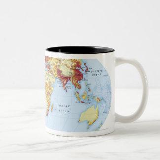 Illustrated Map 3 Two-Tone Coffee Mug