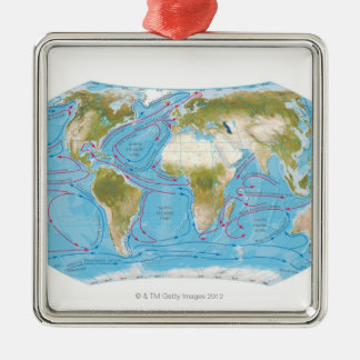Illustrated Map Christmas Ornament