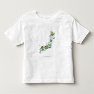 Illustrated map of ancient Japan Toddler T-Shirt