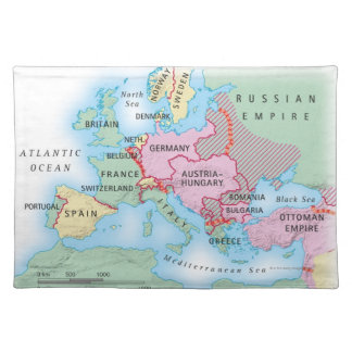 Illustrated Map of Europe Placemats