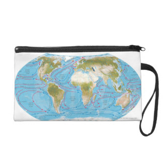 Illustrated Map Wristlet