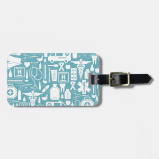 Illustrated Medical Profession Icons Luggage Tag