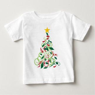 Illustrated Modern Christmas tree apparel Tees