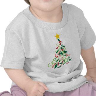 Illustrated Modern Christmas tree apparel Tshirts