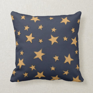 Illustrated night sky cushion