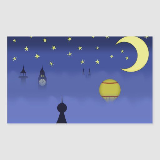 Illustrated Night Sky Stickers