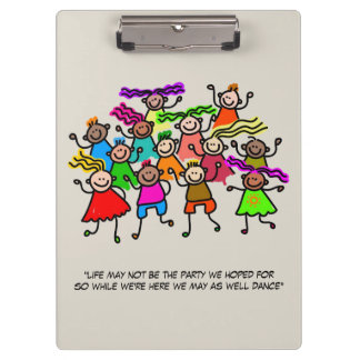 Illustrated People Dancing Clipboard