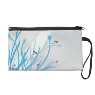 Illustrated Plant Wristlet Clutches