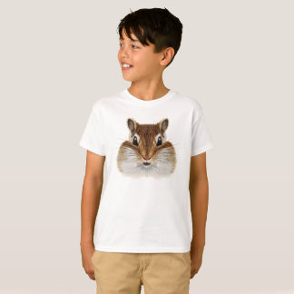 Illustrated portrait of Chipmunk. T-Shirt