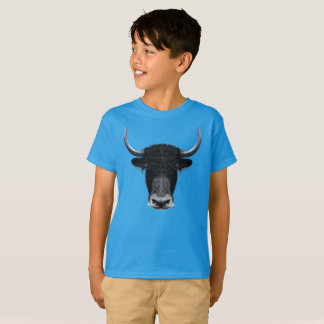 Illustrated portrait of Domestic yak. T-Shirt