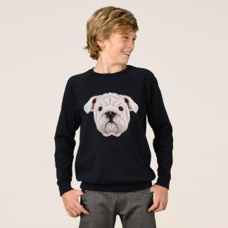 Illustrated portrait of English Bulldog puppy. Sweatshirt