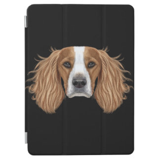 Illustrated Portrait of English Springer Spaniel. iPad Air Cover