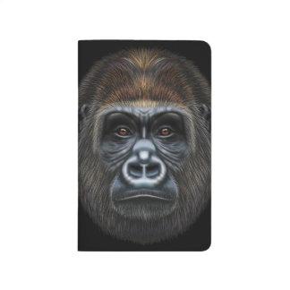 Illustrated portrait of Gorilla male. Journal