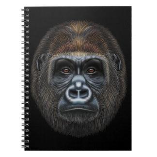 Illustrated portrait of Gorilla male. Notebook