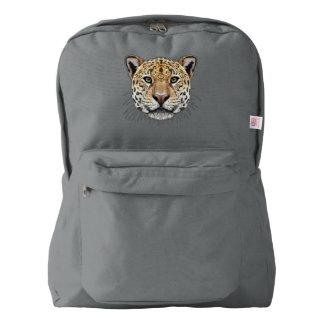 Illustrated portrait of Jaguar. Backpack