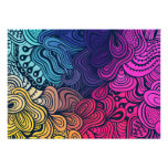 Illustrated Psychedelic Floral Pattern Personalised Invitations