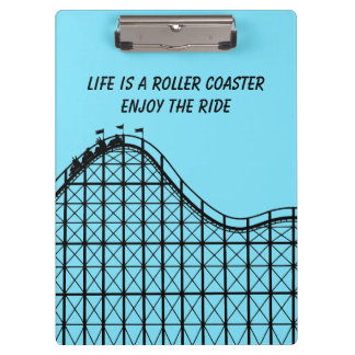 Illustrated Roller Coaster with people Clipboard