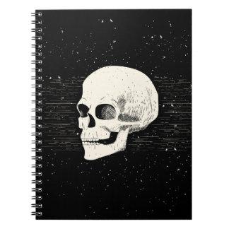 Illustrated Skull   Spiral Notebook