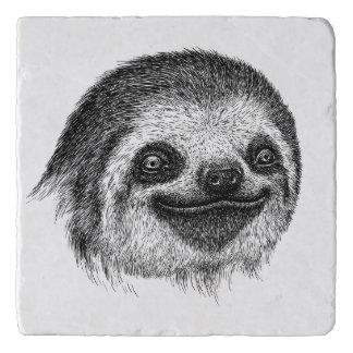 Illustrated Sloth Face Trivet