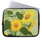 Illustrated Sunflowers Laptop Sleeve