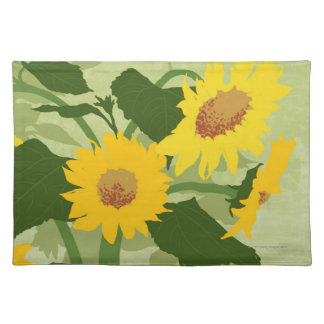 Illustrated Sunflowers Placemat