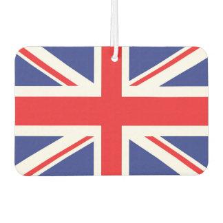 Illustrated version of the british flag car air freshener