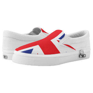 Illustrated version of the british flag Slip-On shoes