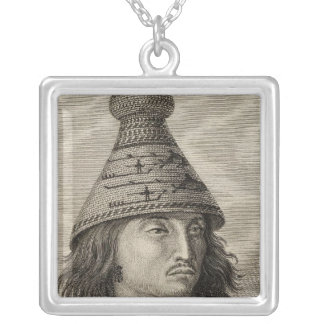 Illustrated view of British Columbia Silver Plated Necklace