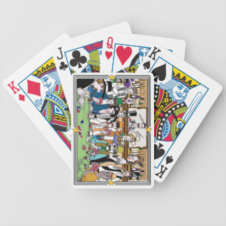 "Illustrated ""Wild West Poker Game"" Bicycle playing Bicycle Playing Cards"