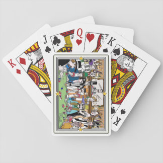 "Illustrated ""Wild West Poker Game"" playing cards"