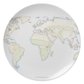 Illustrated World Map 2 Plates