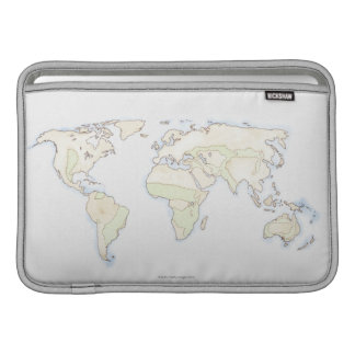 Illustrated World Map 2 Sleeve For MacBook Air