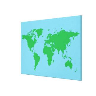 Illustrated World Map 3 Canvas Print