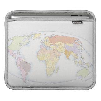 Illustrated World Map 3 iPad Sleeve