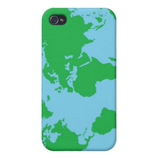 Illustrated World Map Case For iPhone 4