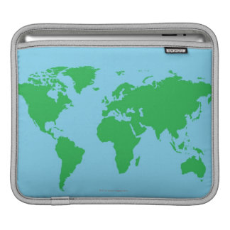 Illustrated World Map iPad Sleeve