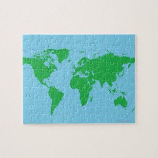 Illustrated World Map Jigsaw Puzzle